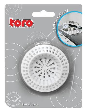 TORO | Sítko plastové do výlevky 2 ks, průměr 7 cm
