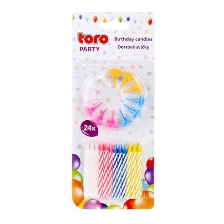 TORO   Svíčky dortové 24 ks
