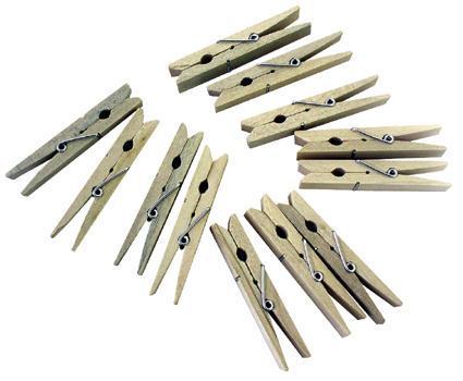 TORO | Kolíčky na prádlo 24 ks, dřevo