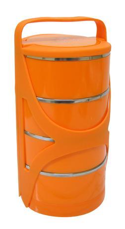 TORO | Jídlonosič plastový s nerez vnitřkem, 4 patra