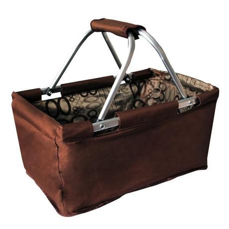 TORO   Nákupní košík skládací 29 l - hnědý
