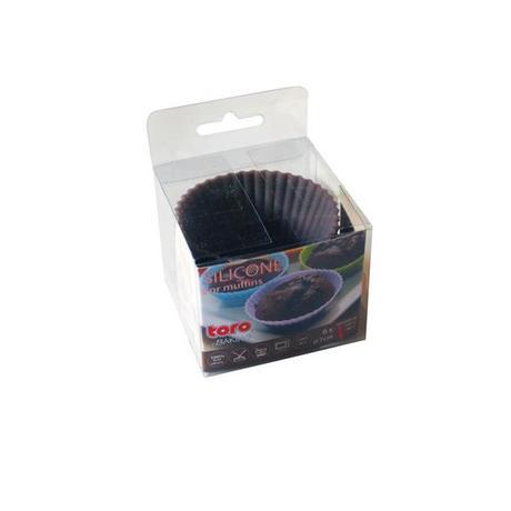 TORO | Forma silikon košíčky na muffiny 6ks, šedo-hnědá