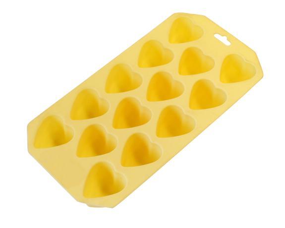 TORO | Forma silikonová na led/čokoládu,tvar srdce,krémová