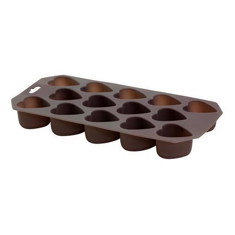 TORO | Forma silikonová na led/čokoládu,tvar srdce,hnědo-šedá