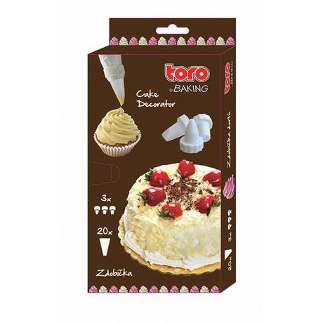 TORO | Zdobící sáček, 20 ks + 3 ks trysek