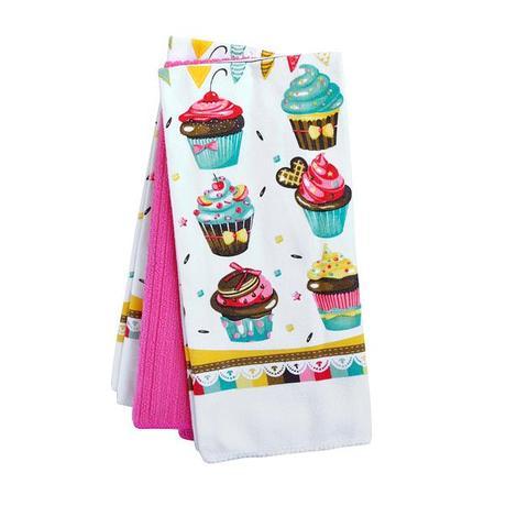 TORO | Kuchyňské utěrky, 3 ks, dekor dortíků