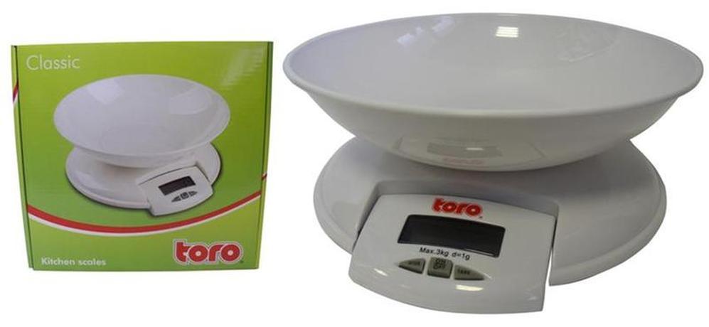 TORO   kuchyňská váha do 3 Kg 20,5 x 4,5 cm