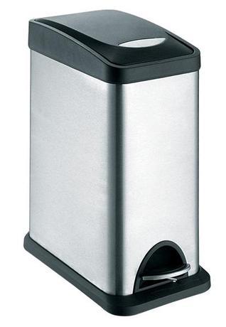 TORO | Koš na odpadky nerezový s plastovým víkem, objem 8 l, 15,5 x 40 cm