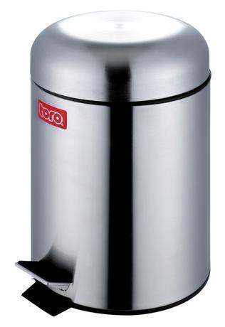 TORO | Koš na odpadky retro design, nerez, objem 3 l