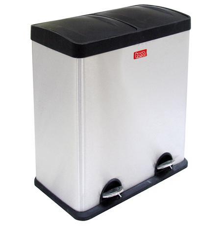 TORO | Koš na odpadky nerez, na tříděný odpad, objem 60 l, 31 x 57,5 x 64 cm - doprava zdarma