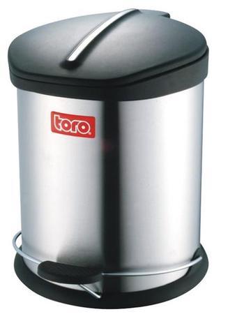 TORO | Koš na odpadky s plastovým víkem, objem 12 l, 28 x 39 cm