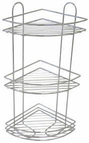 TORO | polička rohová koupelnová 23,1 x 31 x 58 cm