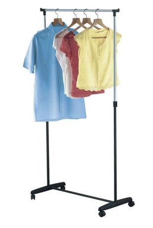 TORO   Věšák na prádlo chrom, 88,5 x 42,5 x (98 - 166) cm