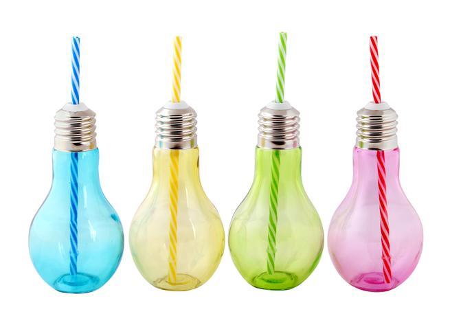 TORO | Sklenice s brčkem, žárovka, 400 ml