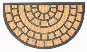 TORO   Rohožka půlkruh kokos a guma, 40 x 70 cm
