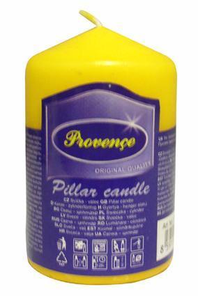 Provence | Svíčka parafín válec žlutá, 5 x 8 cm