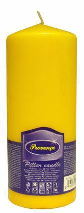 Provence | Svíčka parafín válec žlutá, 6, 3 x 16 cm