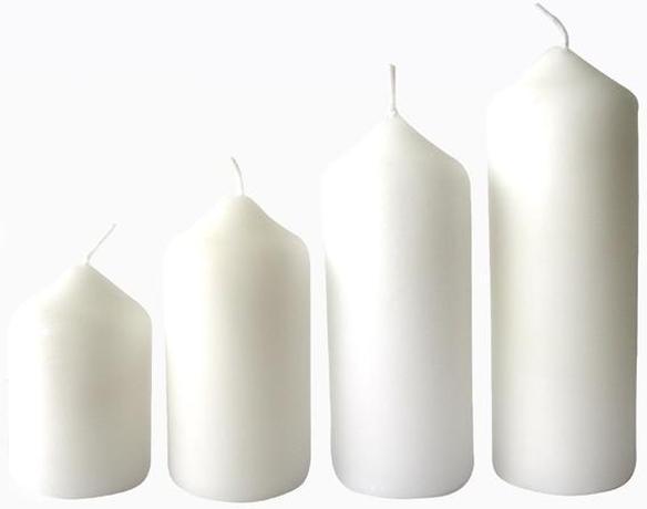 Provence | Svíčka adventní bílá 4 velikosti, průměr 4 cm