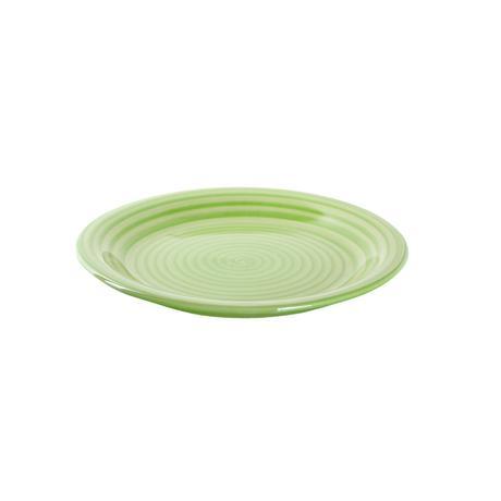 TORO | Talíř dezertní s proužky keramika, 19,5 cm, zelený