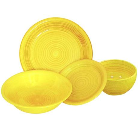 TORO | talíř dezertní proužkovaný 19,5 x 2,5 cm