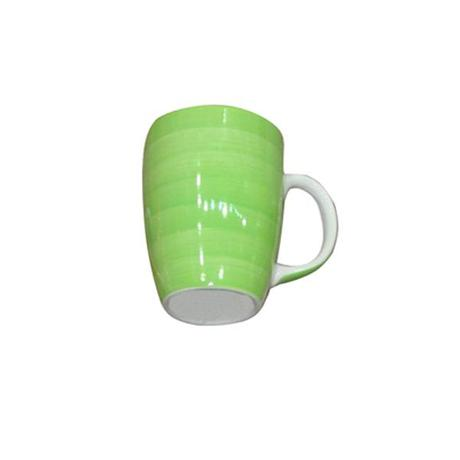 TORO | Hrnek s proužky keramika, objem 280 ml, zelený