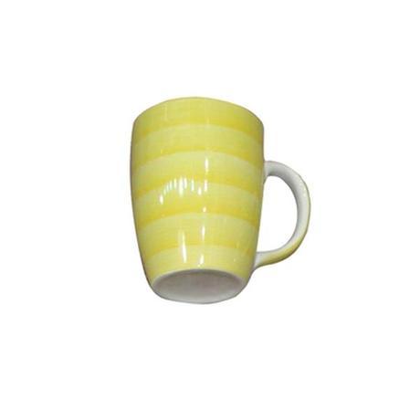 TORO | Hrnek s proužky keramika, objem 280 ml, žlutý