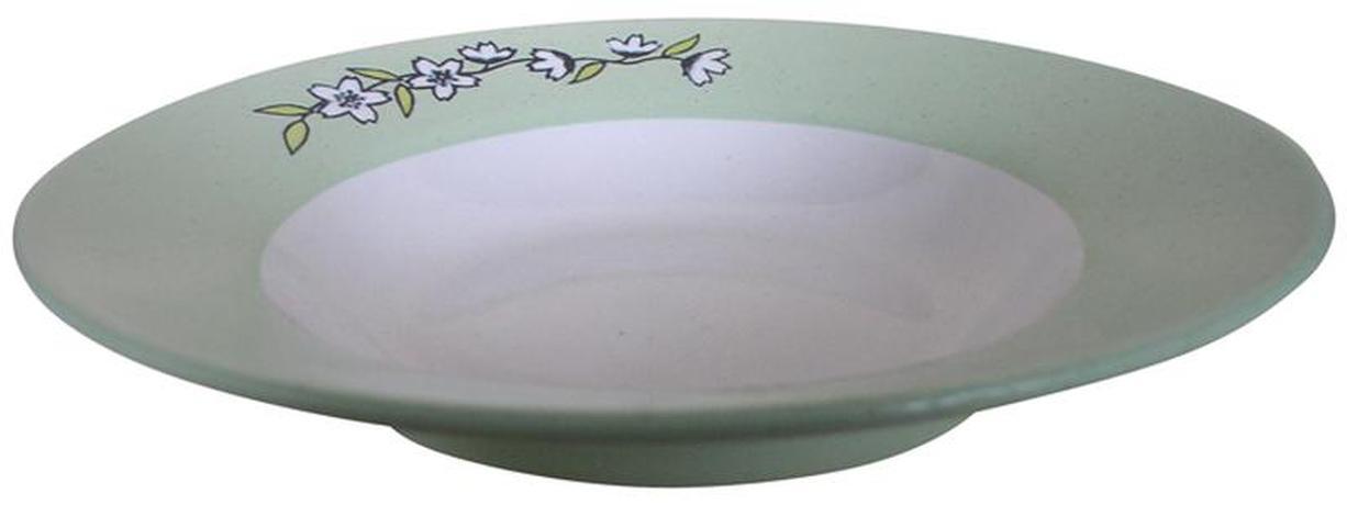 TORO | Talíř polévkový s květinou, 22, 5 x 4, 5 cm