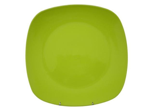 TORO | Talíř jídelní, čtverec, 25,6 cm, zelený