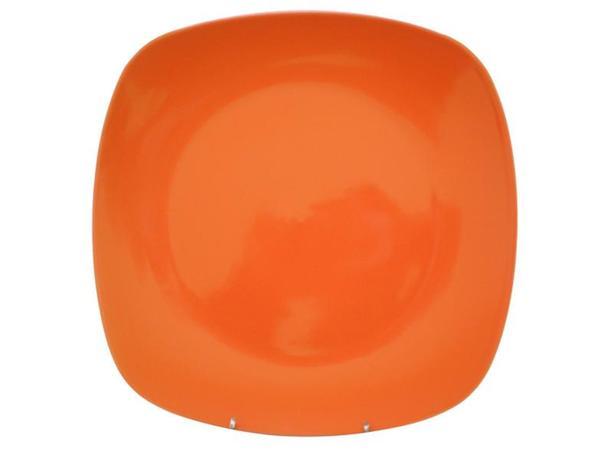 TORO | Talíř jídelní, čtverec, 25,6 cm, oranžový