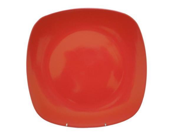 TORO | Talíř jídelní, čtverec, 25,6 cm, červený
