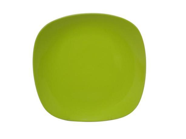 TORO | Talíř dezertní, čtverec, 19, 5 cm, zelený