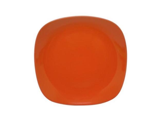 TORO | Talíř dezertní, čtverec, 19, 5 cm, oranžový