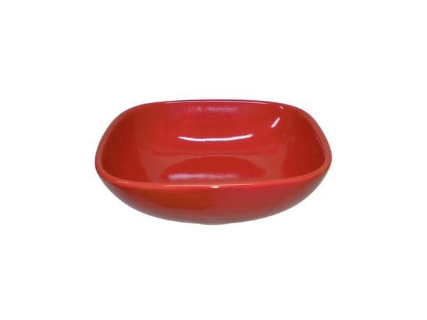 TORO | Miska polévková, čtverec, 16,6 cm, červená