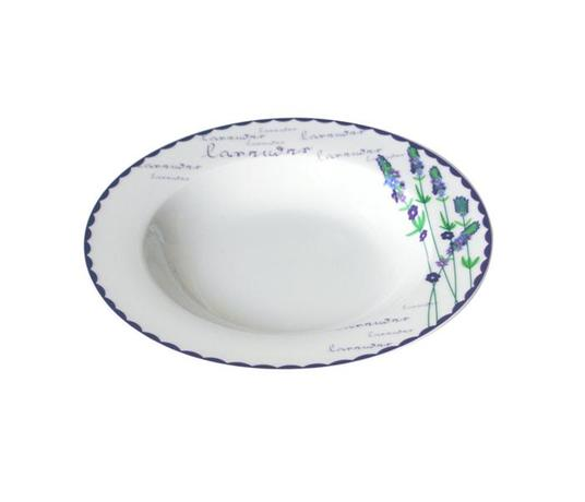 TORO | Talíř polévkový, keramika, motiv levandule