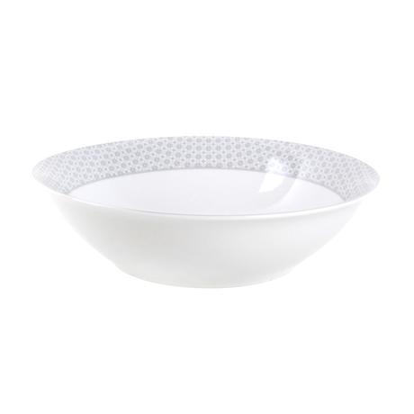 TORO | Miska salátová, porcelán, bílo-šedá, 23 cm