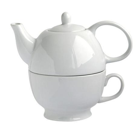 TORO | Konvička na čaj 480 ml se šálkem 320 ml - 2 v 1 ,porcelán