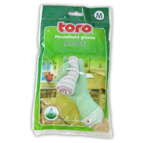 TORO | gumové rukavice aloe, velikost M