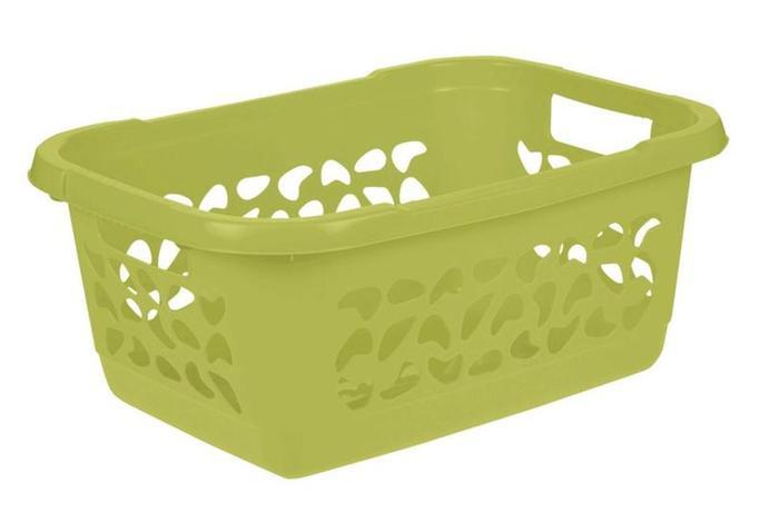 Keeper   Koš na prádlo 32 l, děrovaný, zelený