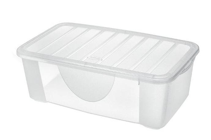 Tontarelli | Box úložný DODO s víkem, objem 4 l, transparentní.