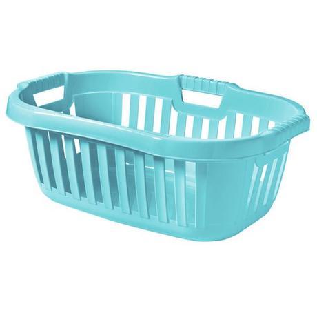 Tontarelli   Koš na čisté prádlo 50 l, světle modrý