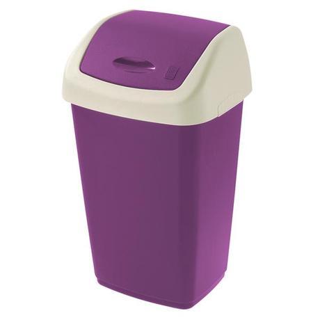 Tontarelli | Koš na odpadky Swing Aurora 50 l, tmavě fialový/krémový