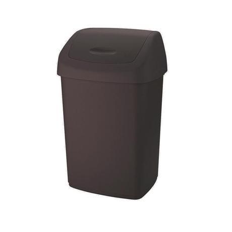 Tontarelli | Koš na odpadky SWING AURORA, objem 15 l, tmavě hnědý