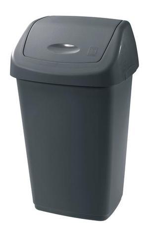 Tontarelli | Koš na odpadky SWING AURORA, objem 9 l, antracit