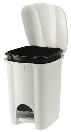Tontarelli | Koš na odpadky CAROLINA, objem 6 l, bílý