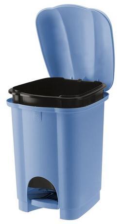 Tontarelli | Koš na odpadky CAROLINA, objem 6 l, světle modrý