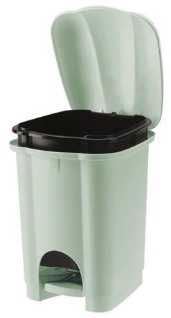 Tontarelli | Koš na odpadky CAROLINA, objem 6 l, světle zelený