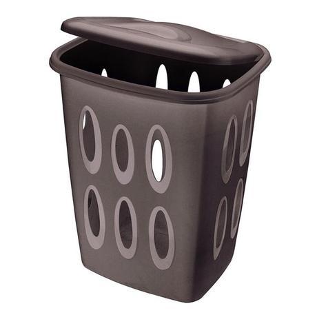 Tontarelli | Koš na špinavé prádlo, objem 45 l, tmavě hnědý