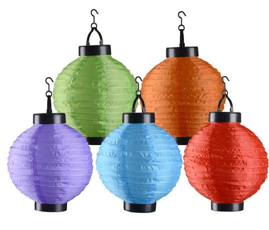 Outdoor lights | LED solární lucerna, pr. 20 cm, assort