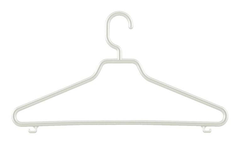 Tontarelli | Ramínko Bimbo s pevným háčkem, set 3 ks, bílá