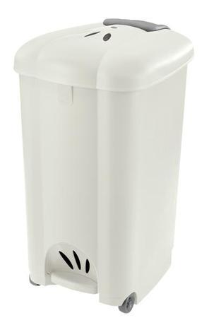 Tontarelli | Koš odpadkový Carolina, 50 l, bílý